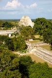 Άποψη τοπίων της archeological περιοχής Uxmal με τις πυραμίδες και το rui Στοκ εικόνες με δικαίωμα ελεύθερης χρήσης