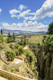 Άποψη τοπίων της Ronda Μια πόλη στην ισπανική επαρχία της Μάλαγας Στοκ φωτογραφίες με δικαίωμα ελεύθερης χρήσης