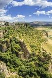 Άποψη τοπίων της Ronda Μια πόλη στην ισπανική επαρχία της Μάλαγας Στοκ φωτογραφία με δικαίωμα ελεύθερης χρήσης