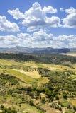 Άποψη τοπίων της Ronda Μια πόλη στην ισπανική επαρχία της Μάλαγας Στοκ εικόνα με δικαίωμα ελεύθερης χρήσης