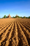 Άποψη τοπίων του τομέα και των ναών στην περιοχή Bagan, το Μιανμάρ Στοκ Φωτογραφίες