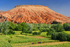Άποψη τοπίων των υψηλών βουνών ατλάντων, Μαρόκο στοκ φωτογραφίες