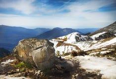 Άποψη τοπίων υψηλών βουνών στη Rosa Khutor Στοκ Εικόνες