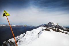 Άποψη τοπίων υψηλών βουνών στο Sochi Στοκ φωτογραφία με δικαίωμα ελεύθερης χρήσης