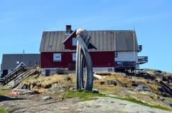 Άποψη τουριστών του Νουούκ, πρωτεύουσα της Γροιλανδίας Στοκ Φωτογραφία