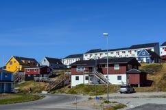 Άποψη τουριστών του Νουούκ, πρωτεύουσα της Γροιλανδίας Στοκ Φωτογραφίες