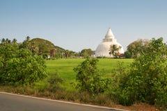 Άποψη του άσπρου stupa από μακρυά, στοκ φωτογραφίες με δικαίωμα ελεύθερης χρήσης