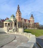 Άποψη του αναχώματος Chrobry σε Szczecin στοκ εικόνα