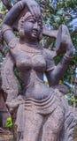 Άποψη του αρχαίου ινδικού γλυπτού γυναικών, Chennai, Tamilnadu, Ινδία 29 Ιανουαρίου 2017 Στοκ Εικόνες