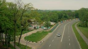 Άποψη του αυτοκινητόδρομου απόθεμα βίντεο