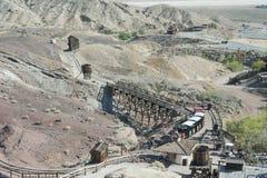 Άποψη του βαμβακερού υφάσματος, Καλιφόρνια, SAN Bernardino County Στοκ Φωτογραφίες