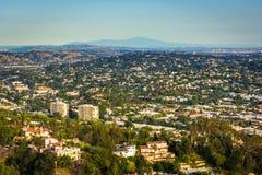 Άποψη του βορειοανατολικού Λος Άντζελες από Griffith το παρατηρητήριο, στο Los στοκ εικόνες με δικαίωμα ελεύθερης χρήσης