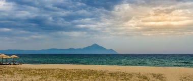 Άποψη του βουνού Athos Στοκ φωτογραφία με δικαίωμα ελεύθερης χρήσης