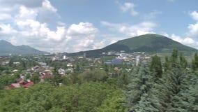 Άποψη του βουνού Mashuk και της πόλης Pyatigorsk απόθεμα βίντεο