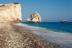 Άποψη του βράχου Aphrodite, Κύπρος Στοκ Εικόνα