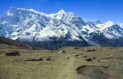 Άποψη του βόρειου προσώπου Annapurna ΙΙ και Annapurna IV από Kicho β Στοκ φωτογραφίες με δικαίωμα ελεύθερης χρήσης