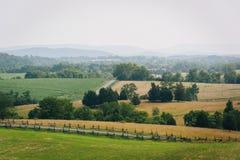Άποψη του εθνικού πεδίου μάχης Antietam, Μέρυλαντ Στοκ Φωτογραφίες
