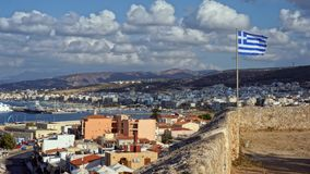 Άποψη του ελληνικού νησιού της Κρήτης στοκ φωτογραφία με δικαίωμα ελεύθερης χρήσης