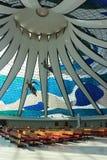 Άποψη του εσωτερικού του καθεδρικού ναού της Μπραζίλια στοκ φωτογραφίες με δικαίωμα ελεύθερης χρήσης