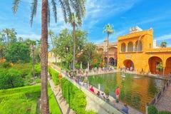 Άποψη του εσωτερικού patio - υδράργυρος Pond Estanque de Mercurio στοκ φωτογραφίες με δικαίωμα ελεύθερης χρήσης