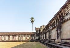 Άποψη του δεύτερου τοίχου, Angkor Wat, Siem Riep, Καμπότζη Στοκ Φωτογραφία