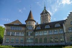 Άποψη του ελβετικού Εθνικού Μουσείου Landesmuseum στη Ζυρίχη, Switzerl στοκ φωτογραφίες με δικαίωμα ελεύθερης χρήσης