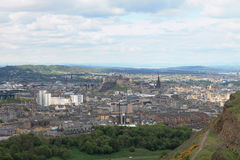 Άποψη του Εδιμβούργου από το κάθισμα του Άρθουρ στη Σκωτία, UK Στοκ εικόνα με δικαίωμα ελεύθερης χρήσης