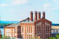 Άποψη του ζυθοποιείου Zhigulevsky στη Samara Στοκ φωτογραφία με δικαίωμα ελεύθερης χρήσης