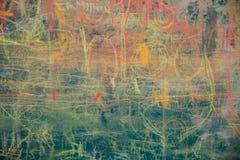 Άποψη του ζωηρόχρωμου πίνακα κιμωλίας Στοκ φωτογραφία με δικαίωμα ελεύθερης χρήσης