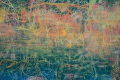 Άποψη του ζωηρόχρωμου πίνακα κιμωλίας Στοκ Εικόνες