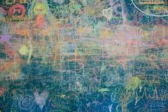 Άποψη του ζωηρόχρωμου πίνακα κιμωλίας Στοκ φωτογραφίες με δικαίωμα ελεύθερης χρήσης