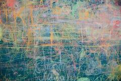 Άποψη του ζωηρόχρωμου πίνακα κιμωλίας Στοκ Εικόνα