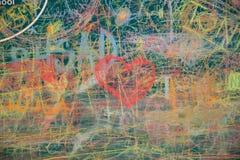 Άποψη του ζωηρόχρωμου πίνακα κιμωλίας Στοκ εικόνες με δικαίωμα ελεύθερης χρήσης