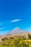 Άποψη του ηφαιστείου της Misty, Περού, Νότια Αμερική Στοκ φωτογραφία με δικαίωμα ελεύθερης χρήσης