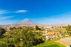 Άποψη του ηφαιστείου της Misty σε Arequipa, Περού, Νότια Αμερική Στοκ εικόνες με δικαίωμα ελεύθερης χρήσης