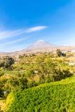 Άποψη του ηφαιστείου της Misty σε Arequipa, Περού, Νότια Αμερική Στοκ Φωτογραφίες