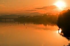 Άποψη του ηλιοβασιλέματος Στοκ φωτογραφία με δικαίωμα ελεύθερης χρήσης