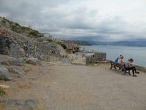 Άποψη του θαυμάσιου χωριού του Πόρτο Venere Στοκ φωτογραφία με δικαίωμα ελεύθερης χρήσης