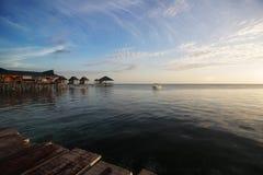 Άποψη του θερέτρου Mabul στη μέση celebes θάλασσας του ωκεανού Στοκ φωτογραφίες με δικαίωμα ελεύθερης χρήσης