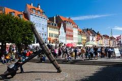 Άποψη του διάσημου Nyhavn το καλοκαίρι, Κοπεγχάγη Στοκ εικόνα με δικαίωμα ελεύθερης χρήσης