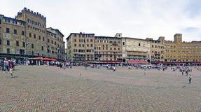Άποψη του διάσημου Plaza αποκαλούμενου ` del Campo ` στη Σιένα Στοκ εικόνα με δικαίωμα ελεύθερης χρήσης