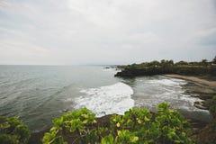 Άποψη του Ινδικού Ωκεανού από το νότο της παραλίας του Μπαλί στοκ εικόνα με δικαίωμα ελεύθερης χρήσης