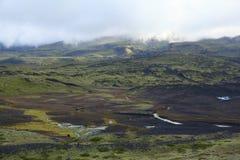 Άποψη του ισλανδικού εδάφους ηφαιστείων Στοκ εικόνες με δικαίωμα ελεύθερης χρήσης