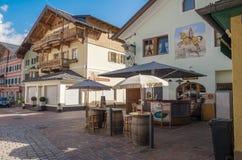 Άποψη του ιστορικού κέντρου πόλεων σε Kitzbuhel, Τύρολο, Αυστρία Στοκ φωτογραφίες με δικαίωμα ελεύθερης χρήσης