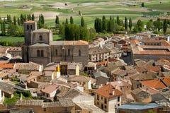 Άποψη του ιστορικού κέντρου Peñaranda de Duero στην Ισπανία Στοκ Εικόνες