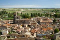 Άποψη του ιστορικού κέντρου Peñaranda de Duero στην Ισπανία Στοκ φωτογραφία με δικαίωμα ελεύθερης χρήσης
