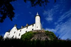 Άποψη του κάστρου και του κήπου Σκωτία UK Dunrobin στοκ φωτογραφία με δικαίωμα ελεύθερης χρήσης
