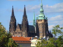 Άποψη του Κάστρου της Πράγας και του καθεδρικού ναού Αγίου Vitus, Πράγα, Δημοκρατία της Τσεχίας στοκ φωτογραφία με δικαίωμα ελεύθερης χρήσης