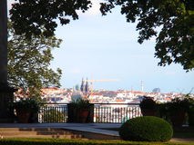Άποψη του Κάστρου της Πράγας και του καθεδρικού ναού Αγίου Vitus, Πράγα, Δημοκρατία της Τσεχίας στοκ εικόνα