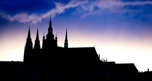 Άποψη του Κάστρου της Πράγας το βράδυ, Δημοκρατία της Τσεχίας Στοκ φωτογραφίες με δικαίωμα ελεύθερης χρήσης